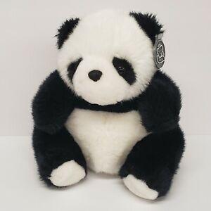"Princess Soft Toys 8"" Panda Bear Seated Black White Plush"
