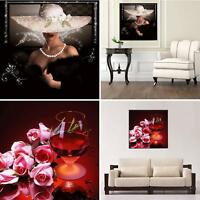 EE_ UK_ Lady Rose 5D DIY Diamond Embroidery Painting Cross Stitch Home Decor Cra