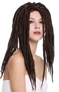 Wig Ladies Men's Carnival Dreadlocks Rasta Reggae Rastafari Dreads Braun
