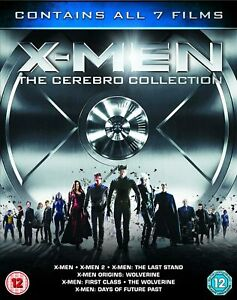 X-MEN - THE CEREBRO COLLECTION 7 Movie Blu-Ray Box Set BRAND NEW