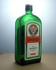 Jagermeister Liqueur Empty Green Glass Bottle Collectable Bar Decor Kitchenalia