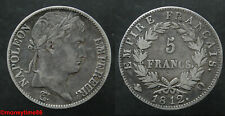 France ! Ecu de 5 francs NAPOLEON Ier, 1812 Q, en TTB