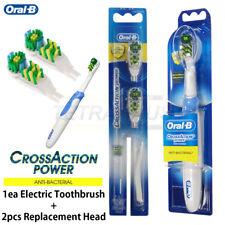 Braun Oral-B B1010 Electric Toothbrush Medium Bristle & 2 Replacement Heads