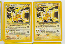 Pokemon RAICHU x 2  21/64 NM/M