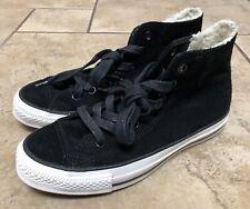 Converse Chuck Taylor All Star Hi Top Black Suede Sneakers Sz 7 Womens Sz 5 Mens
