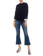 NEW Derek Lam 10 Crosby asymmetric hem wool sweater in navy - Size M