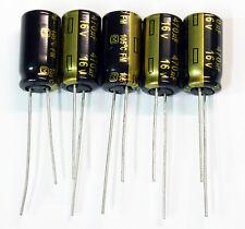 5x Panasonic FM 470uF 16v 10x12.5mm Low-ESR Electrolytic Capacitor. USA Seller
