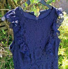 BLUE VANILLA  navy blue dress size 14 work - evening - great dress BNWT