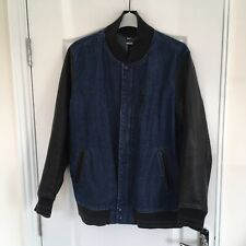 Nike Selvedge Denim Destroyer Jacket Leather Letterman Varsity NSW XL
