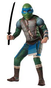 TMNT Leonardo Child Boys Costume Muscle Teenage Mutant Ninja Turtles Rubies