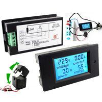 AC 80-260V 0-100A AC Voltmeter/Ammeter Meter Tester Energy +Current Transformer