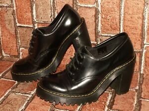 Dr. Martens AirWair SALOME smooth leather heels shoes uk 6 eu 39 us 8 Doc#516