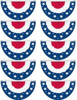10 PACK - 3x5 Ft USA BUNTING FLAG PARADE BANNER - bf
