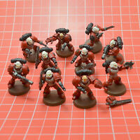 Space Marines 10 Tactical Marines Taktische Marines A bemalt