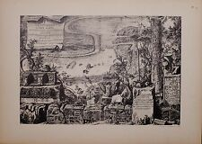 ANTIQUE PIRANESI PRINT 100 YEARS OLD from VIEWS of ROME TITLES FRONTISPIECES etc