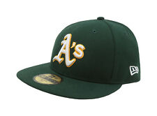 New Era 59Fifty Hat Mens MLB Low Profile Oakland Athletics Green Fitted 5950 Cap