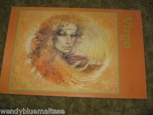 Virgo Yellow Orange & Gold by Susan Seddon Boulet 1990 Block Mounted Print