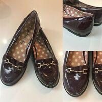 Women's NEXT Loafers Size 5 Dark Purple Slip On Shoes EU38 Flats Flat Shoes