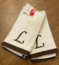"Fingertip towels with letter ""J"" New (set of 2)"