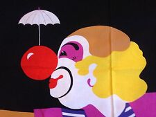 VTG 70s Intair Barbara Brenner International Textil Design Clown Pop Art Fabric