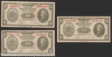 NETHERLANDS INDIES 50 GULDEN 116 1943 ABNC AIRPLANE SHIP INDONESIA CURRENCY NOTE
