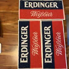 Erdinger - bavarian / german - bar mat / towel - Weissbeer Lot X3