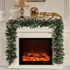 Hot 6ft/180cm Christmas Artificial Garland Snow Pine Cones Fireplace Decorations