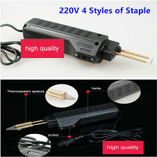220V Hot Car Auto Stapler Bumper Weld Gun Plastic Repair Tool Kit Staples Pliers