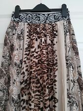 Ladies Gorgeous Azara Animal Print Pleated Skirt Size S UK 8/10