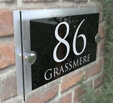 Contemporary House Sign Plaques Door Number 1 - 9999 Personalised Name Plate