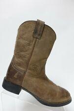 ARIAT Brown Sz 7 D Wide Women Roper Leather Cowboy Boots