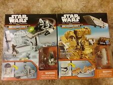 STAR WARS THE FORCE AWAKENS MICRO MACHINES R2-D2 & STORMTROOPER PLAYSETS, NEW