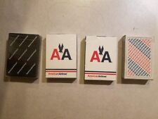 Four American Airlines Playing Cards: Three New and One Used