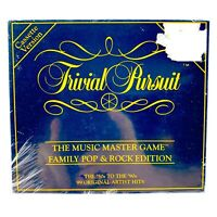 Trivial Pursuit Music Master Board Game Family Pop Rock Edt Cassette  New Sealed