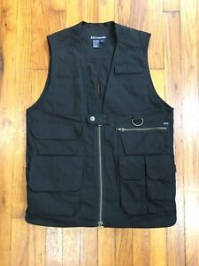 5.11 Tactical Black Vest Concealed Carry Cargo Pockets Hunting Mens Size Small