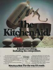1984 KitchenAid Stand Mixer Vintage Print Ad Page Small Kitchen Appliance Advert