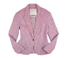 Anthropologie Cartonnier Womens Medium Pink Tonal Knit Blazer Jacket