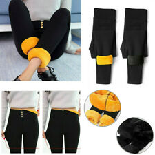 Winter Warm Women's Fleece Lined Thick Trousers Thermal Stretchy Leggings Pants
