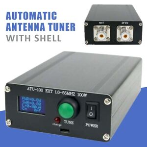 """Automatic Antenna Tuner 100W 1.8-50MHz w/ 0.96"""" OLED ATU100 Assembled + Shell"""