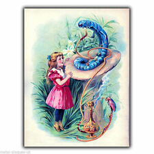 METAL TIN SIGN WALL PLAQUE Alice In Wonderland caterpillar