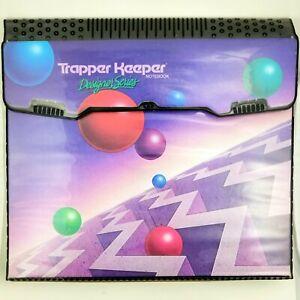Vintage RARE 1988 Mead TRAPPER KEEPER Designer Series 3 Ring Binder w Folder