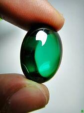 7405-THAI AMULET CRYSTAL NAGA EYE DIVINE GEM STONE GREEN OVAL HEALING SUCCESS