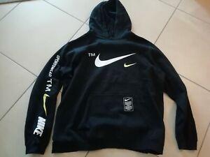 Nike Air Support Team Hoody Sweat Pullover Jacke Schwarz Gelb Weiß Gr XXL 2 XL
