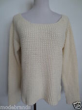Pullover VERO MODA RICE high/low blouse M 36 38 natur ecru /GG3