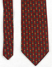 DOLCE & GABBANA Basic Tie Burgu and geometric printed 59.0in 4.5in Made in Italy