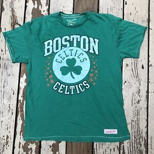 BOSTON CELTICS NBA Basketball • Mitchell & Ness • Men's Tailored Fit T-Shirt XL