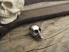 Skull Totenkopf Edelstahl  Biker Bartperle Kette Bead Perle  Anhänger Halskette