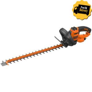 BLACK & DECKER  60cm 600W Electric Garden Hedge Trimmer 230V Dual Action Blade