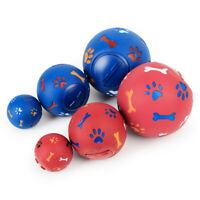 Fun Puppy Dog Play Ball Treat Dispenser Pet Cat Interactive Toy Food Dispensing