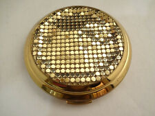 Nice Vintage Whiting & Davis Gold Mesh Art Deco Ladies Powder Compact England